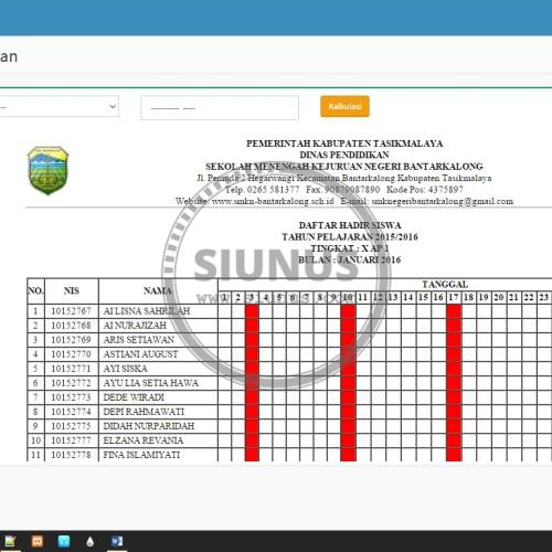 Foto Produk Program Aplikasi Absensi Siswa (SMS Gateway) - dgn Fingerprint dari Siunus Online Market