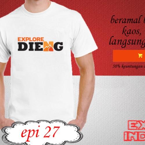 Foto Produk Kaos desain TRAVELLER explore dieng EPI 27 dari explore indonesia