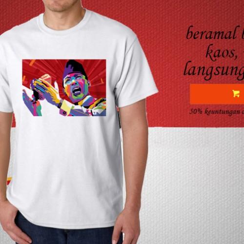 Foto Produk Kaos HARI PAHLAWAN desain ir soekarno PLN 113 dari explore indonesia