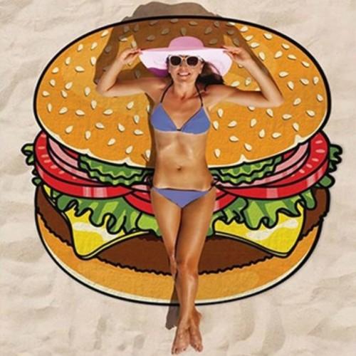 Foto Produk BURGER Round Beach Cover-up/ Beach Mat/ Yoga Mat dari Summer Dreams