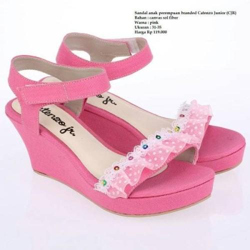 Foto Produk Sepatu sandal wedges anak perempuan branded Catenzo Junior (CJR) dari alyamila shop