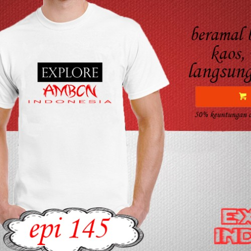 Foto Produk Kaos desain TRAVELLER explore ambon indonesia EPI 145 dari explore indonesia