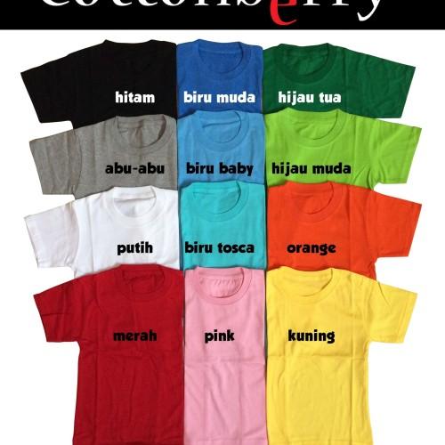 Foto Produk Kaos Polos Anak - 3-4 tahun, Orange dari Cottonberry