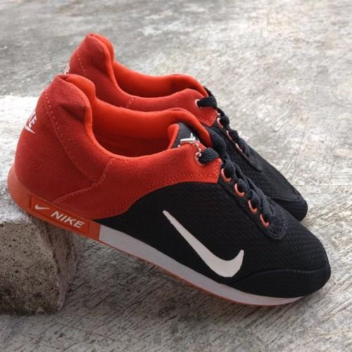Foto Produk Sepatu Nike Jogging Running Hitam Merah dari Pusat Sepatu Baju Murah
