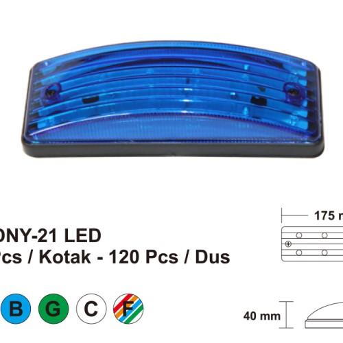 """Foto Produk Lampu LED DNY-21 RED """" 70979 """" dari Jasutra motor"""