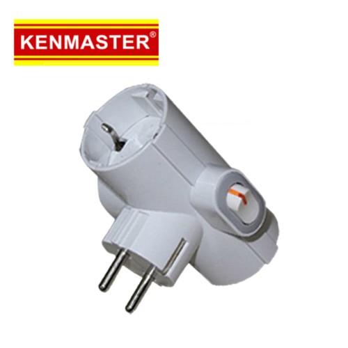 Foto Produk Kenmaster Steker Plug adaptor switch 006 -Colokan Listrik Cabang 3 dari Dbestcompushop
