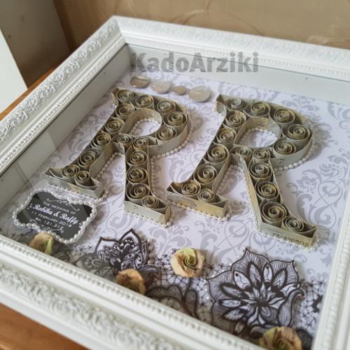 Foto Produk mahar pernikahan, scrapframe mahar, mahar frame 30x30cm dgn uang mahar dari KadoRziki