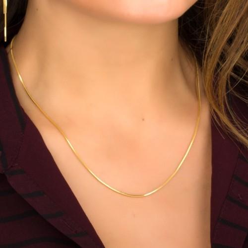 Foto Produk Kalung Kotak Emas Gold Rantai TitaniumKecil-Necklace Box Korea Import dari FRD AKSESORIS