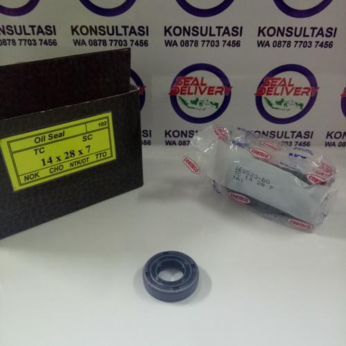 Foto Produk Oil Seal TC 14x28x7 NOK NBR / Karet dari sealdelivery