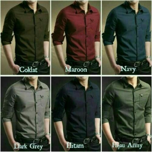 Foto Produk [MYLER] kemeja pria slim fit lengan panjang polos ada 6 pilihan warna dari Rifa t-shirt