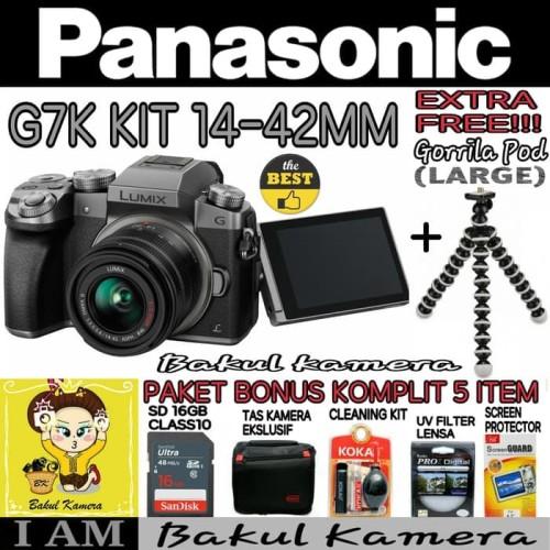 Foto Produk PANASONIC LUMIX G7K Kit 14-42mm PAKET SUPER / PANASONIC LUMIX G7 dari Bakul kamera