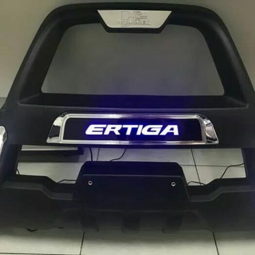 Foto Produk tanduk depan bumper depan all new ertiga 2018 model hummer with led dari Lembaran Variasi