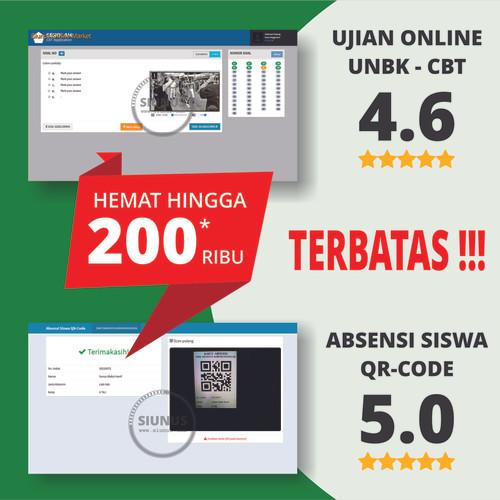 Foto Produk [PAKET HEMAT] Aplikasi Ujian Online CBT UNBK dan Absensi Siswa QR-Code dari Siunus Online Market