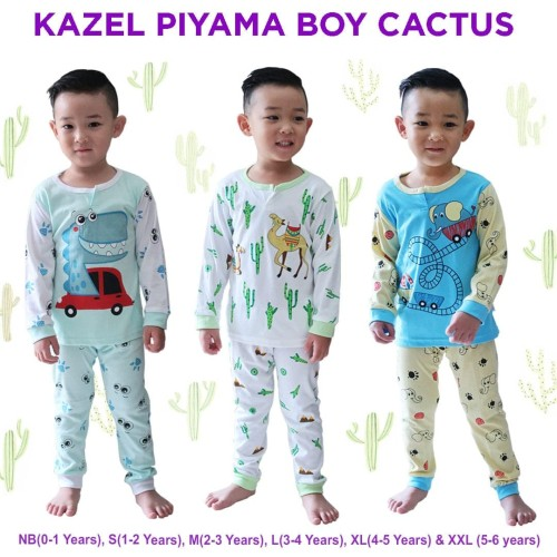 Foto Produk KAZEL PIYAMA BOY CACTUS EDITION SIZE M dari baby cute online shop