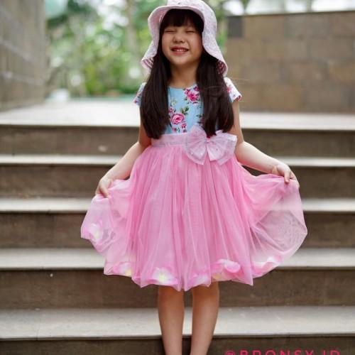 Foto Produk baju/Dress anak/gaun pesta anak/Bronsy/ Flower/Dress cantik/ Pink - 3-4 tahun, Merah Muda dari bronsy.id