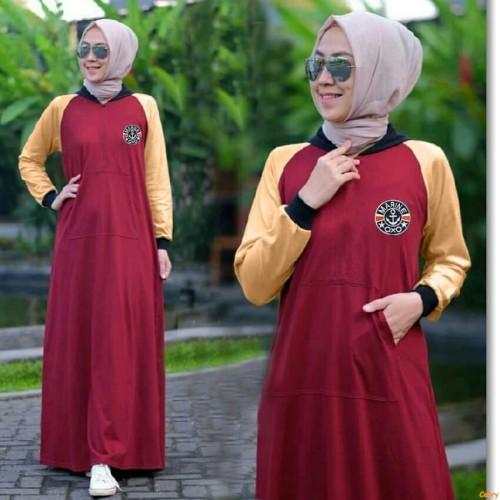 Jual Dress Panjang Azkiya Gamis Jumbo Terbaru Gamis Wanita Trendy Fashion S Jakarta Barat Cerry Olshop Tokopedia