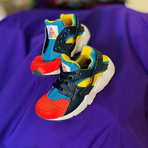 Nike Huarache Run Just Do It Crimsonnavyyellowteal Ori