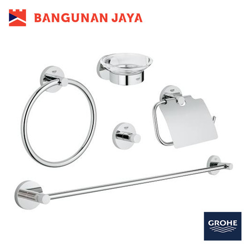 Jual Grohe Essentials Master Bathroom Accessories Set 5 In 1 40344001 Jakarta Pusat Bangunan Jaya Online Tokopedia