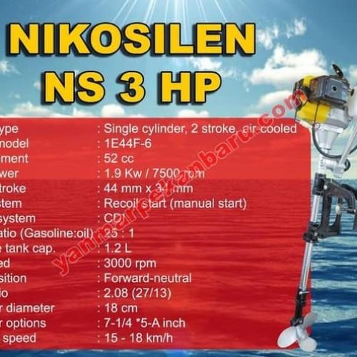 Foto Produk MOTOR TEMPEL / OUTBOARD NIKOSILEN 3PK / 50cc dari DO OFFICIAL STORE