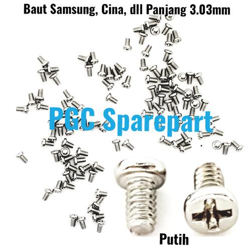 Foto Produk Baut Plus Bunga-Panjang 3mm for Samsung Cina Oppo Vivo Xiaomi Sony dl - Putih dari PGC Sparepart