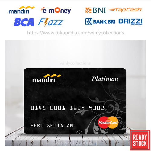 Foto Produk Kartu Emoney Etoll BCA BNI BRI Mandiri Platinum Master Card - 1 SISI dari Winly Collections