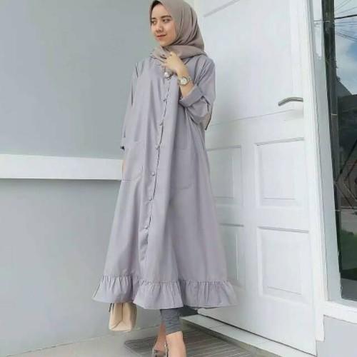 Foto Produk Baju muslim Tunik wanita import quality - Hitam dari My1stShop