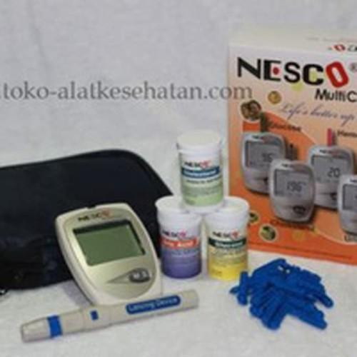 Foto Produk ALAT TEST GULA DARAH, KOLESTEROL, ASAM URAT NESCO GCU dari evasusanti store