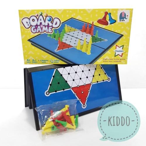 Foto Produk Halma papan magnet - Mainan halma magnet dari Kiddo-MainanBajuAnak