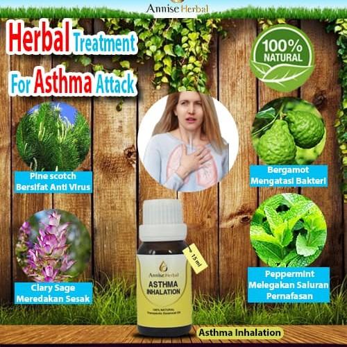 Foto Produk Obat asma paling ampuh, Obat herbal Asma, Asthma Inhalation 15ml dari anniseherbal