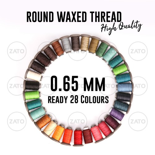 Foto Produk 0,65 mm ZATO New Waxed Leather Thread HIGH QUALITY Benang Jahit Kulit dari ZATO INDONESIA