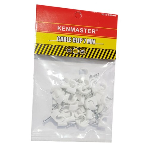 Foto Produk Kenmaster Cable Clip 7mm isi 35 pcs - Klem Kabel dari Dbestcompushop