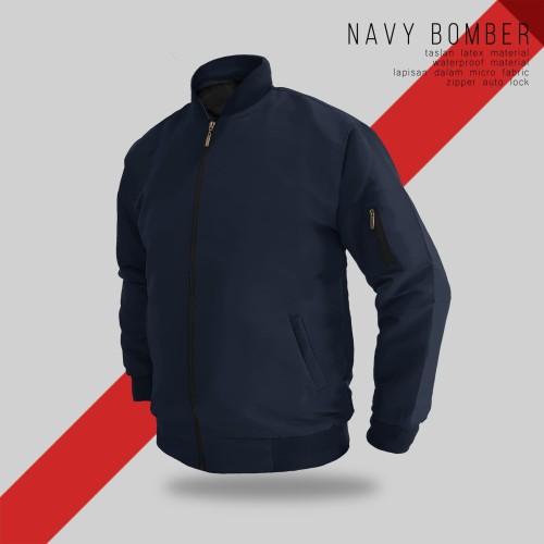 Foto Produk JAKET BOMBER NAVY TASLAN - SIZE M dari bosku.apparel