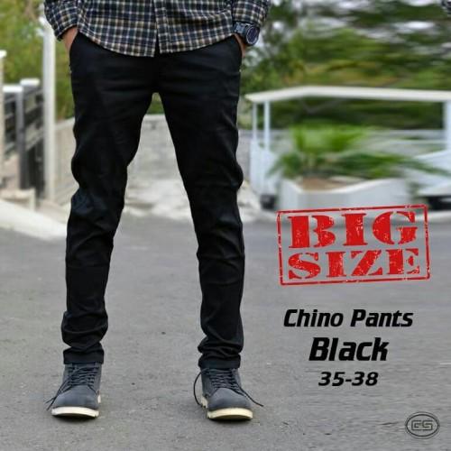 Foto Produk celana panjang chino jumbo bigsize pria cowok warna hitam polos murah - 36 dari MNMLS ID