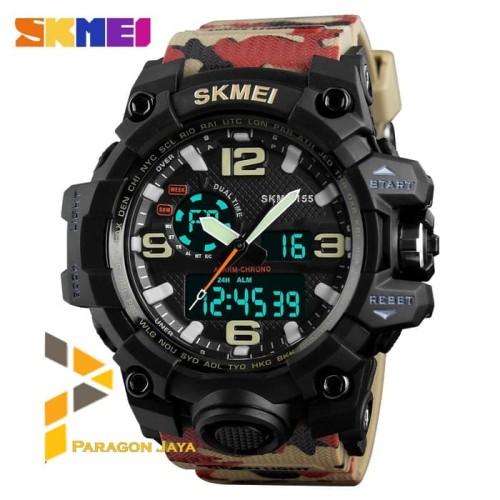 Foto Produk Jam Tangan Pria Watch LED Analog SKMEI 1155 Casio Suntoo Warna Army dari TOKO CASE COVER BAROKAH