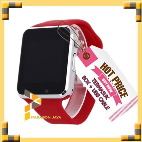Foto Produk SMART WATCH A1 / SMARTWATCH U10 Merah Red SIMCARD MICRO MEMORY CARD dari TOKO CASE COVER BAROKAH