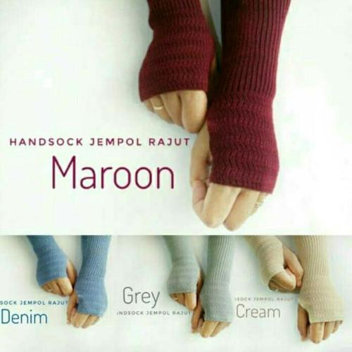 Foto Produk 36 cm Manset Tangan Rajut - Handsocks Knit dari silvilia shop