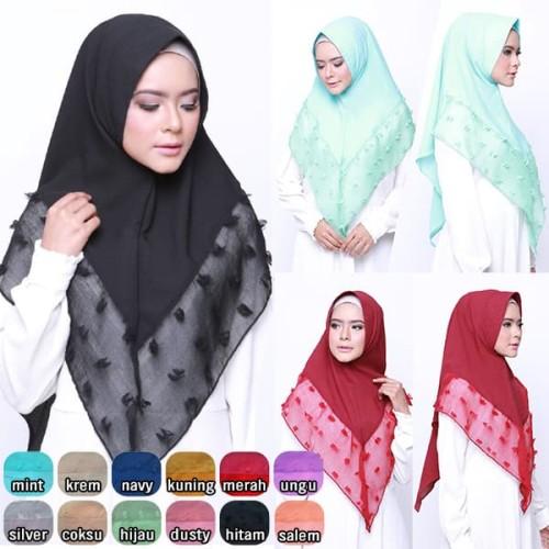 Jual Hijab Cantik Instagram Khimar Ruby Crepe Antapani Lapaksule Tokopedia