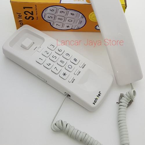 Foto Produk Telepon Gantung Rumah/Gagang Telepon/Telepon Sahitel S-21 - White - Putih dari Lancar Jaya Store