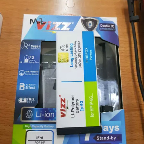 Foto Produk BATRE BATERAI BATTERY DOUBLE POWER VIZZ IPHONE 6 IPHONE 6G dari BenuaCell