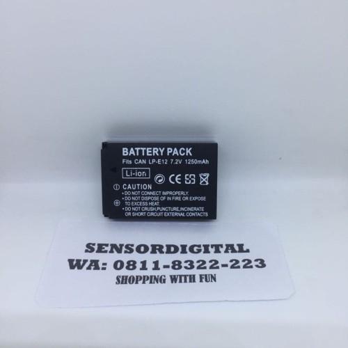 Foto Produk CANON BATTERY BATERAI LP-E12 LPE12 FOR 100D EOS M10 dari sensordigital
