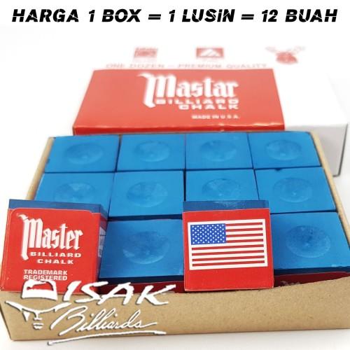 Foto Produk Master Chalk China KW - Box 12 pcs Kapur Biliar Billiard Cuk Bilyard dari ISAK Billiard Sport Co.