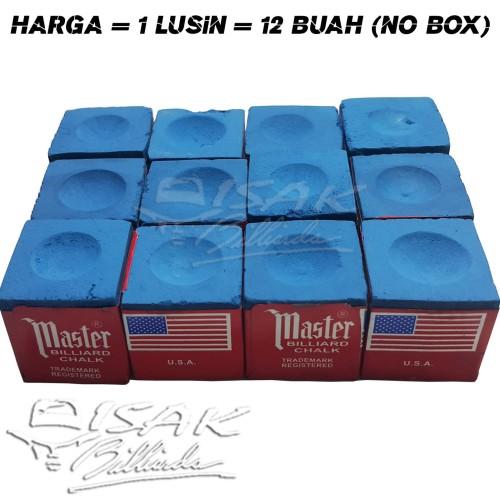 Foto Produk Master Chalk KW China - Blue 12 pc Kapur Biliar Billiard Cuk Bilyard dari ISAK Billiard Sport Co.
