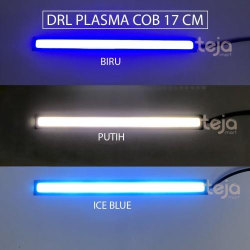 Foto Produk SEPASANG LAMPU DRL PLASMA LED COB 17CM PUTIH/BIRU DEPAN MOTOR MOBIL 17 dari TejaMart