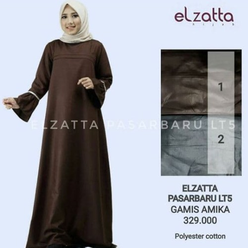 Jual Elzatta Hijab Gamis Amika Sukajadi Jeetz Shop Tokopedia