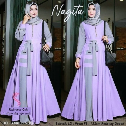 Jual Gamis Nagita Dress Gaun Muslim Syar I Murah Lavender Kota Bandung Sindi S Hijab Tokopedia