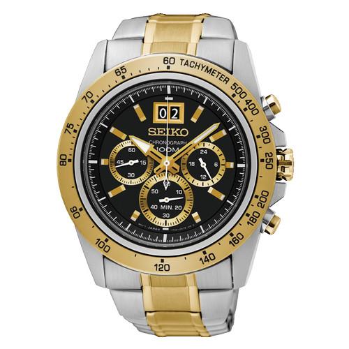 Foto Produk SEIKO Lord SPC232P1 Gold Black Chronograph Stopwatch ORIGINAL dari GMT watch co.