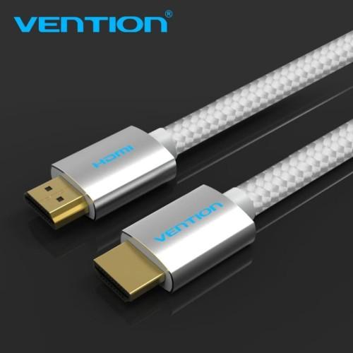 Foto Produk Vention [AAB 15M] Kabel High Speed Cotton Braided HDMI v2.0b 4K dari SinShe-Tekno
