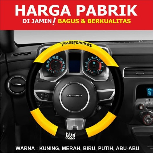 Foto Produk Autorace Cover Stir Sarung Stir Transformer Steering Wheel Transformer - Abu-abu dari Price Priority