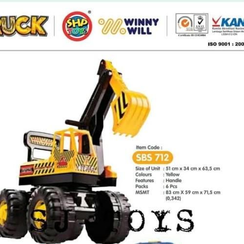 Foto Produk BRG - 17000521 Mainan Anak/MOBIL SBS 712/excavator beko/Mobil dorong dari Mykidshop89