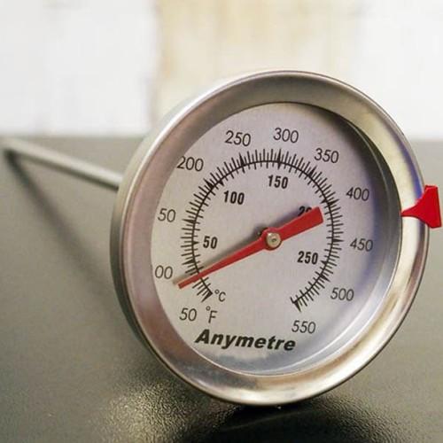 Foto Produk Frying Thermometer Ukur Suhu Minyak Air Stainless Analog Termometer dari HRDIK